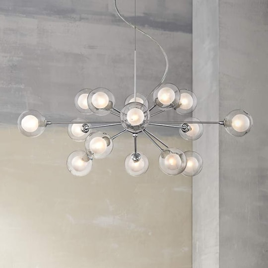 Possini Euro Design Glass Sphere 15-Light Pendant Chandelier at Lamps Plus