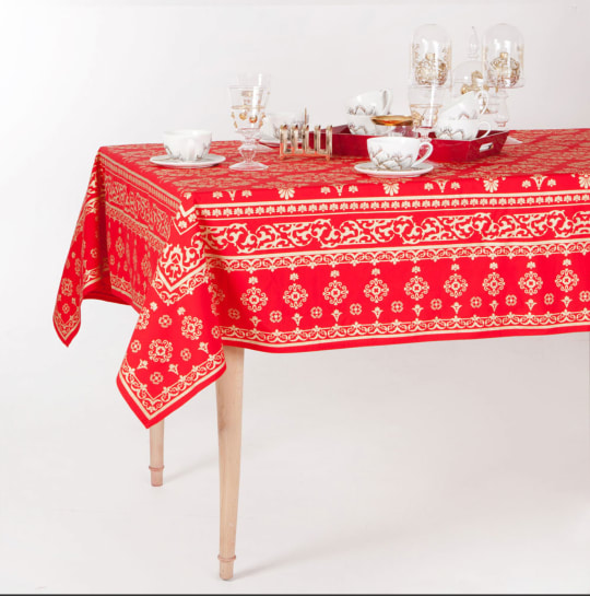 Damask Print Christmas Tablecloth from Zara Home