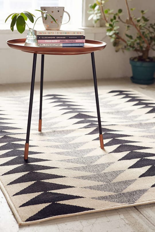 Modern Triangles Indoor/Outdoor Rug at Urban Outfitters