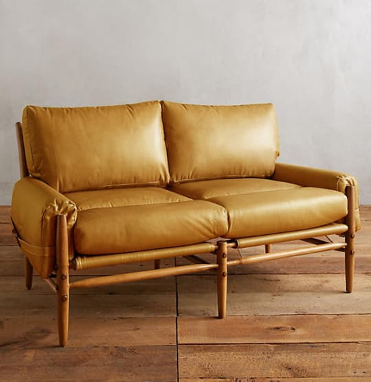 Premium Leather Rhys Settee