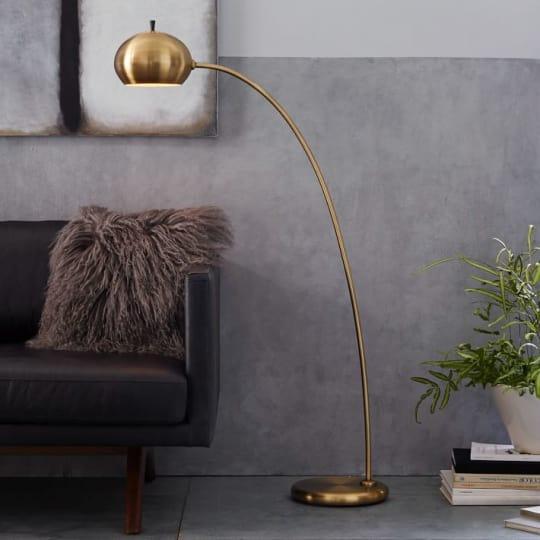 West Elm Petite Arc Metal Floor Lamp