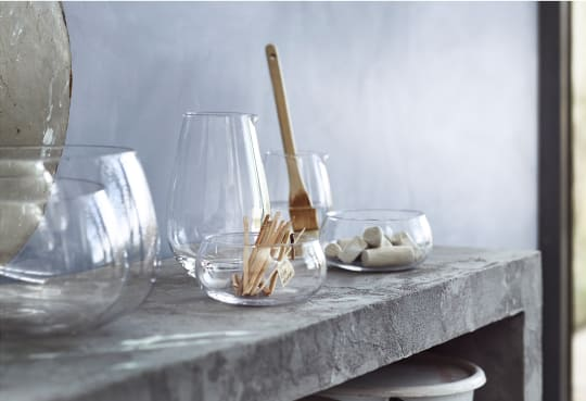 VIKTIGT Clear Glass Bowls