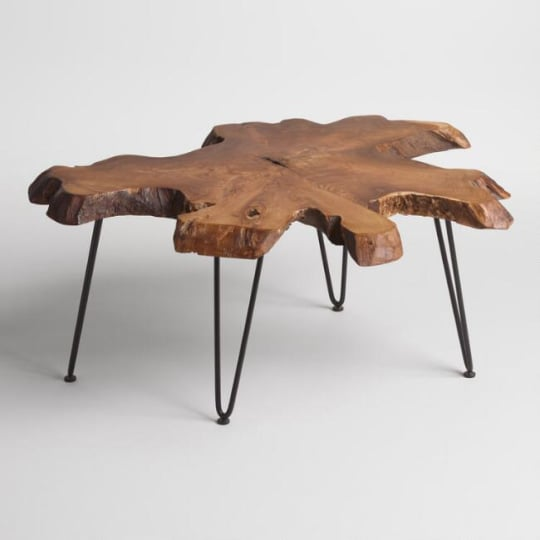 Wood Slice Coffee Table at World Market