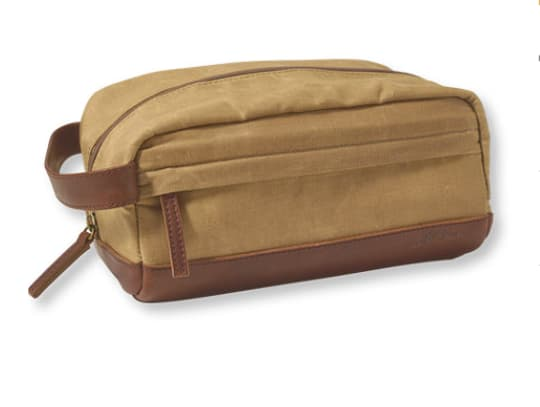 Heritage Waxed Canvas Toiletry Kit