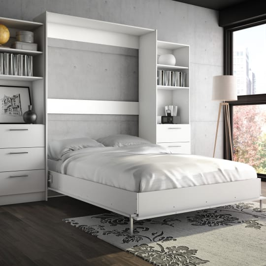 Wade Logan Lower Weston Full Murphy Wall Bed at Wayfair
