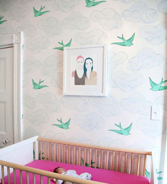 Daydream Wallpaper by Julia Rothman