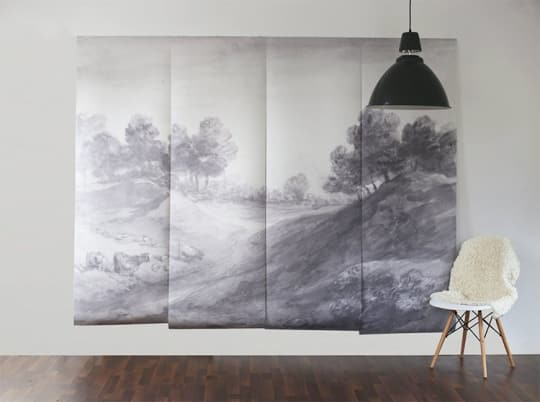"""Shaded Landscape Wall Mural - 100"""" x 80"""" from Anewall Decor"""