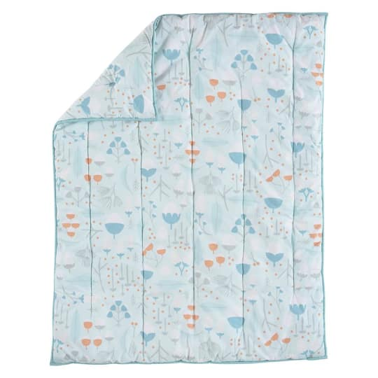 Land of Nod Well Nested Baby Quilt, Blue