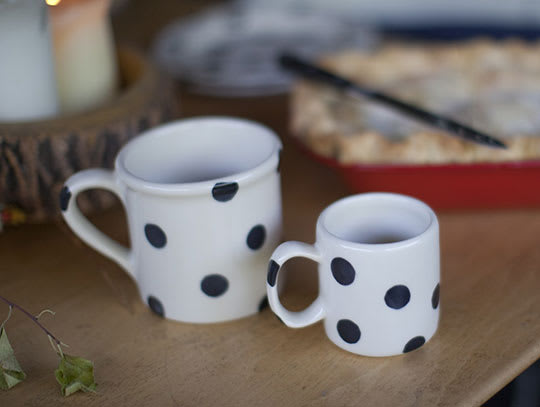 Black Dot Mugs from Schoolhouse Electric