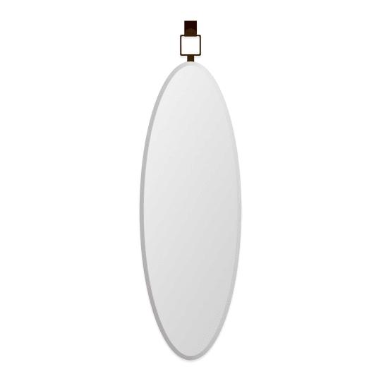Door Solutions Oval Over-the-Door Mirror in Bronze at Bed Bath & Beyond