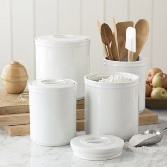 Porcelain Pantry Canisters (set of 3)