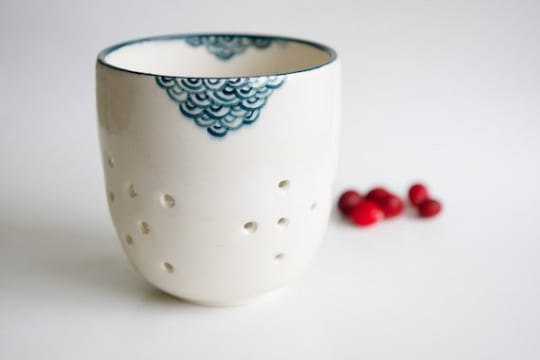 Teal Berry Colander by RossLab