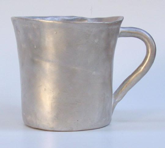 Silver Wash Coffee Mug by Bernhard Kuehn