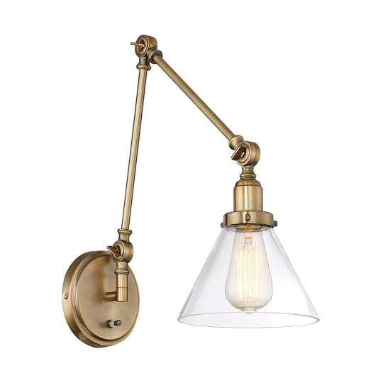 Industrial Triangle Shade Swing Arm Wall Sconce