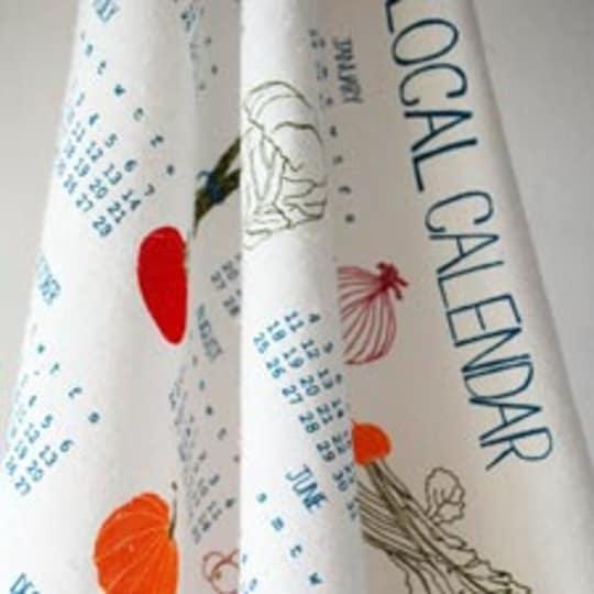 2012 Buy Local Calendar Tea Towel by Claudia Pearson