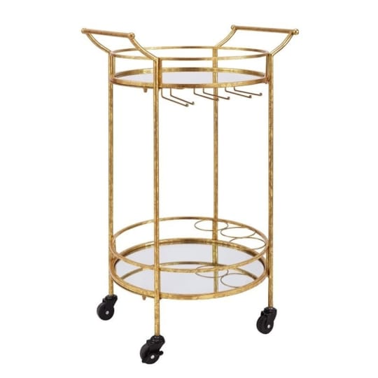 Linon Bar Cart in Gold