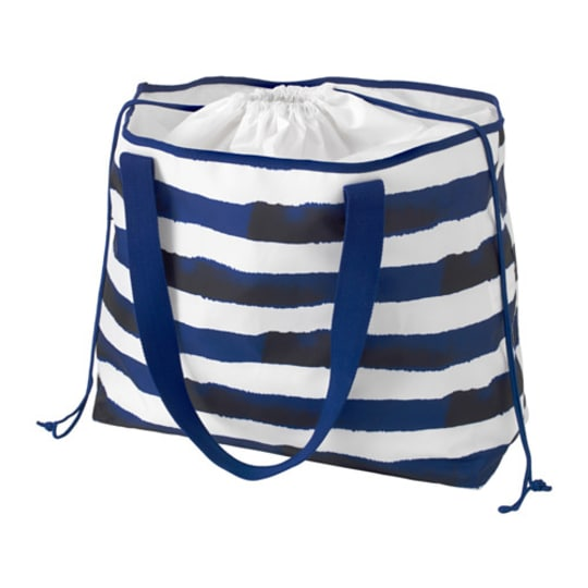 SOMMAR 2016 Beach bag, blue, stripe