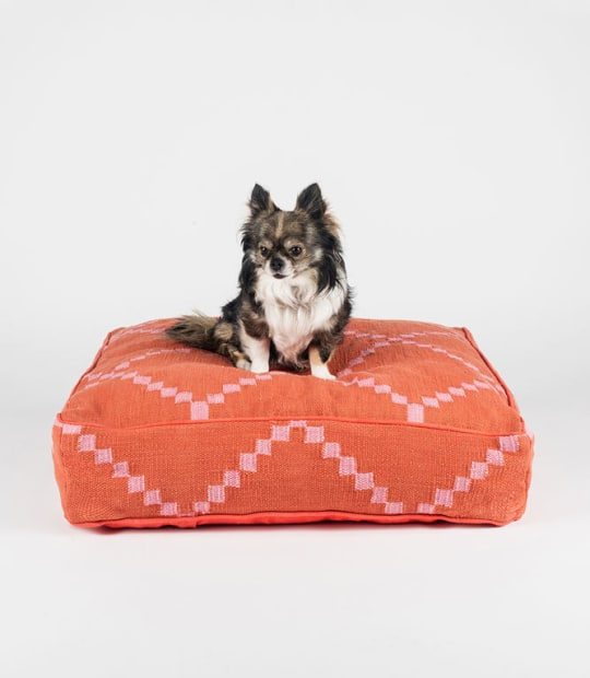 Fillydog Pink Geometric Square Dog Bed