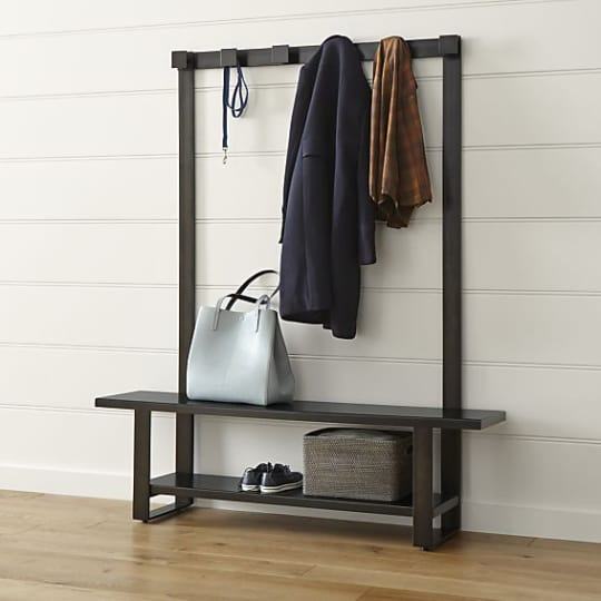 Welkom Hall Tree Bench with Coat Rack at Crate&Barrel