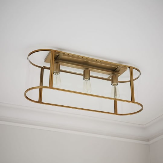 Trough Chandelier + Flushmount