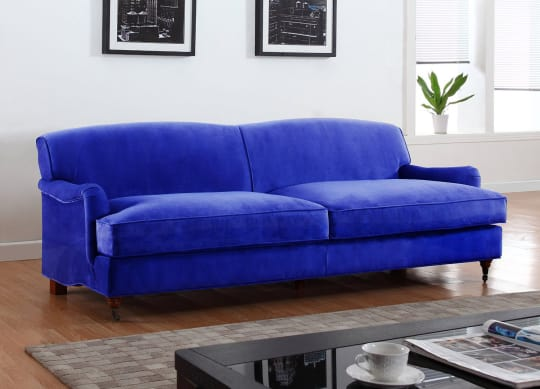 Traditional sofa in microfiber