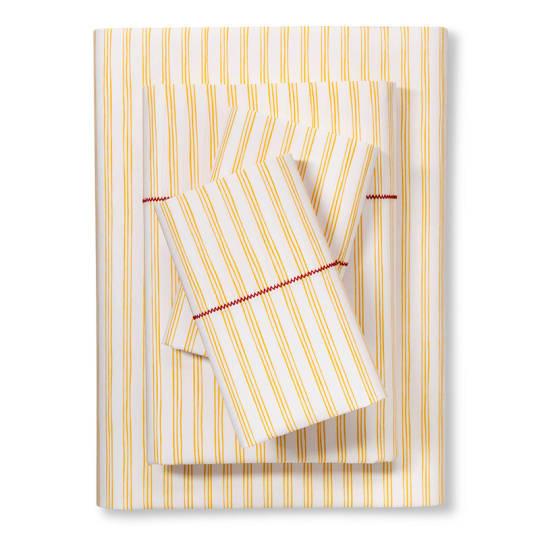 Brooklyn & Bond Fine Stripe Sheet Set in Yellow at Target