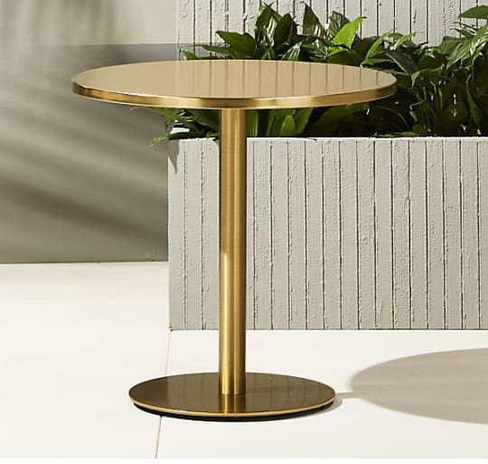 Watermark Brass Bistro Table at CB2