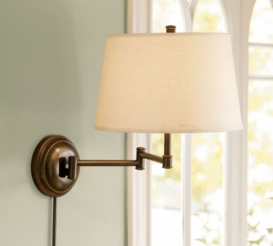 Chelsea Swing-Arm Sconce with Shade