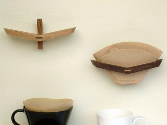 Wooden Coffee Filter Holder by Yoshitaka Nakaya