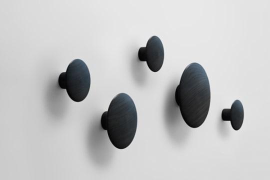 Black Dot Coat Hooks by Tveit & Tornøe