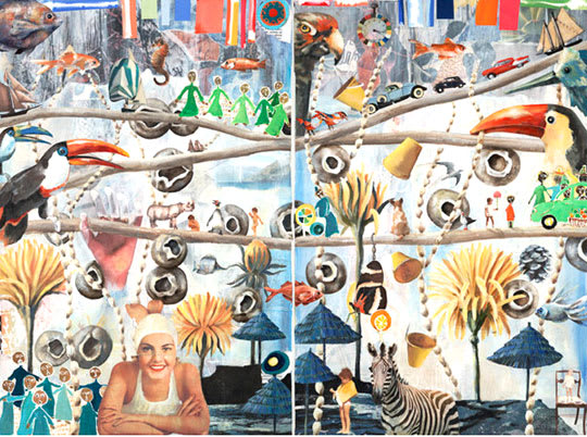 Collages by Lulu de Kwiatkowski