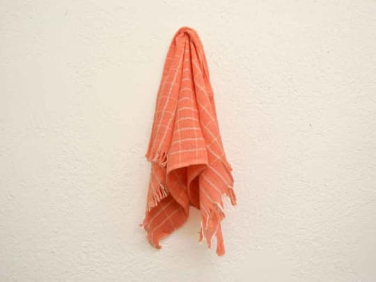 Pink and White Checkered Hand Towels from Kneeland Mercado