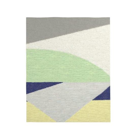 Color Slice Wool Dhurrie