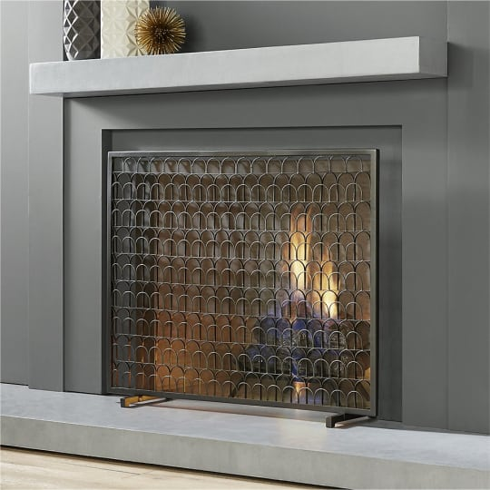 Panes Fireplace Screen