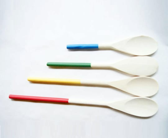 Rainbow Kitchen Spoons from Wind and Willow Home