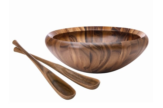 """Dansk Wood Classics 16"""" Salad Bowl"""