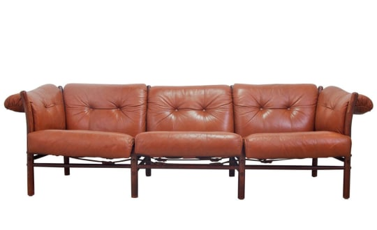 Arne Norell Leather Sofa, Model Ilona