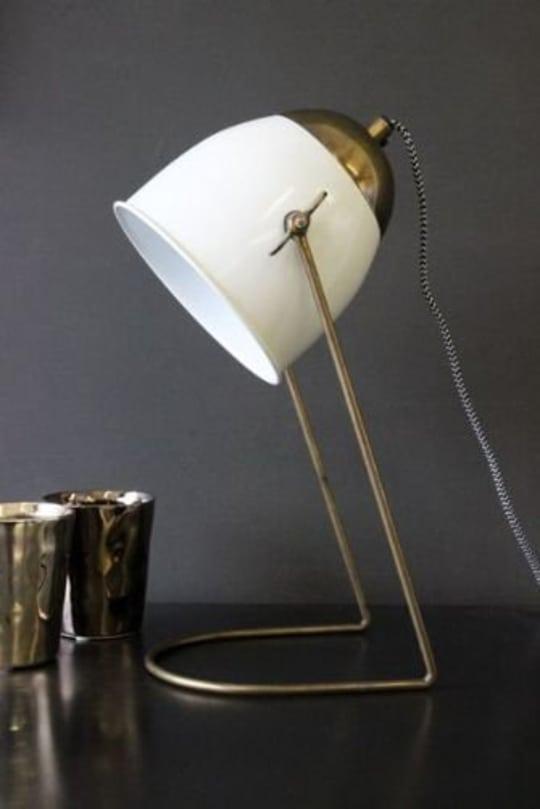 Little Brass Ivory Desk Lamp