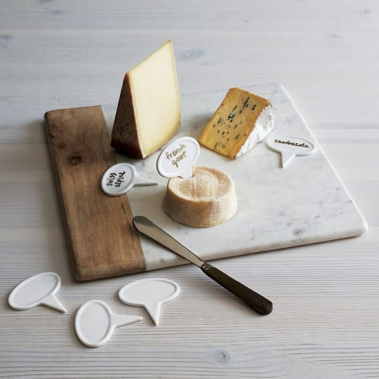 Wood-Marble Square Platter from Crate & Barrel