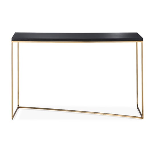 Threshold Stepney Console Table Brass and Black
