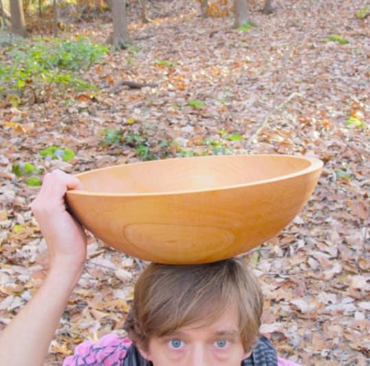 """Large 15"""" Maple Bowl"""
