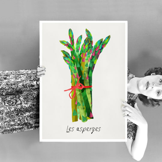Asparagus Fine Art Print from The French Cuisine