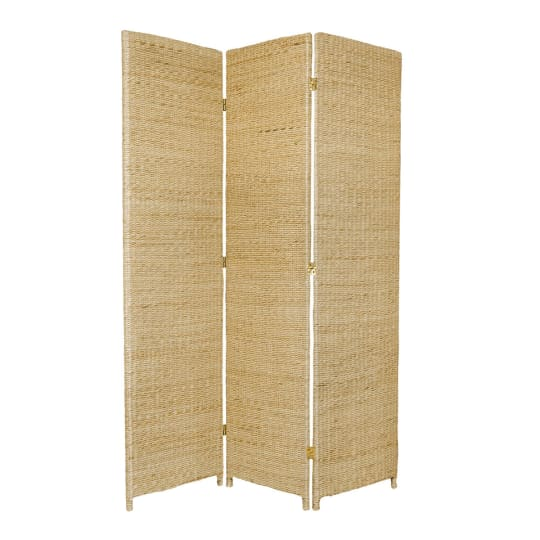 6 ft. Tall Rush Grass Woven Room Divider at Room Dividers