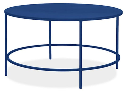 Slim Cocktail Table in Blue by Room & Board