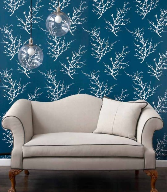 Edie Temporary Wallpaper in Frosted Teal