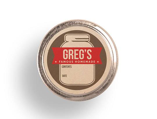 Personalized Mason Jar Labels by GirlinGearStudio