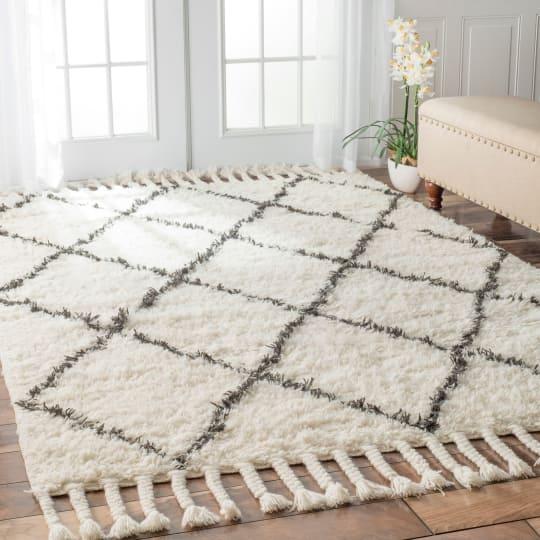 Moroccan Trellis Shag Wool Rug