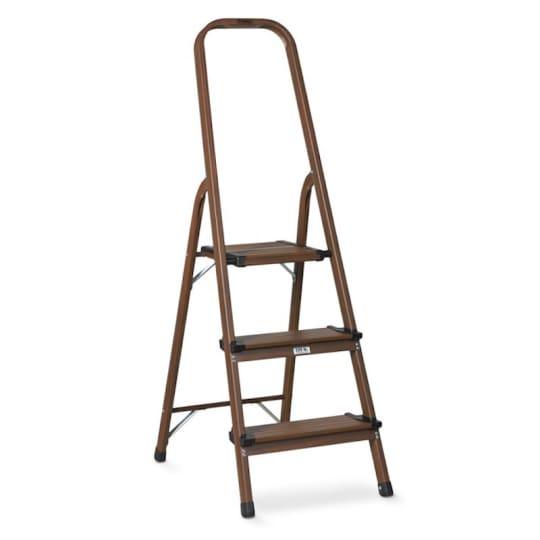 3-Step Wood and Aluminum Ladder