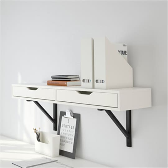 EKBY ALEX Shelf with Drawer at IKEA