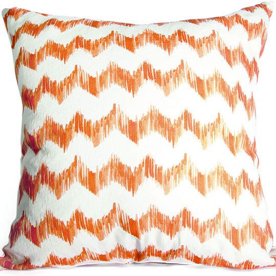 Tangerine Ziggy Pillows